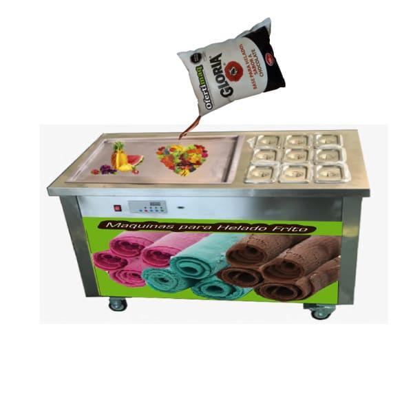 Máquina para helado enrollado