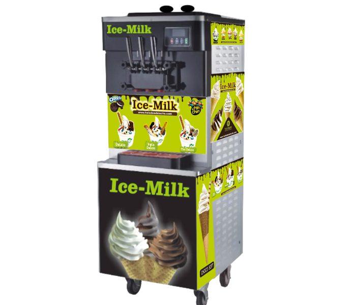 heladera ice milk verde