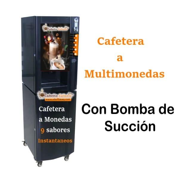 Cafetera a monedas 9 sabores