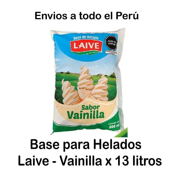 Leche Laive para helados